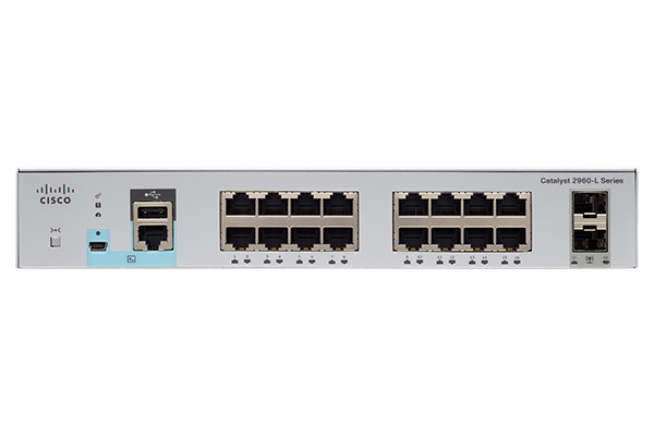 Catalyst 2960L 16 port GigE. 2 x 1G SFP. LAN Lite (WS-C2960L-16TS-LL) – Campus LAN Switch