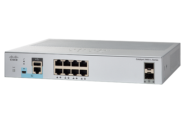 Catalyst 2960L 8 port GigE with PoE. 2 x 1G SFP. LAN Lite (WS-C2960L-8PS-LL) – Campus LAN Switch